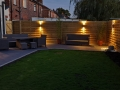 Anthracite Porcelain Patio with tantalised fencing