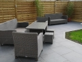 Porcelain patio in Penwortham - View to water feature