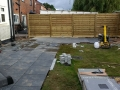 Laying porcelain flags on patio in Penwortham, Lancashire