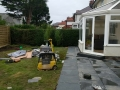 Laying porcelain flagging to conservatory on patio