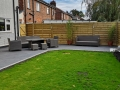 Anthracite porcelain patio in Penwortham, Preston, Lancashire