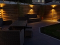 Porcelain patio in Preston by night