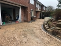 another angle of processof resin bound driveway rose