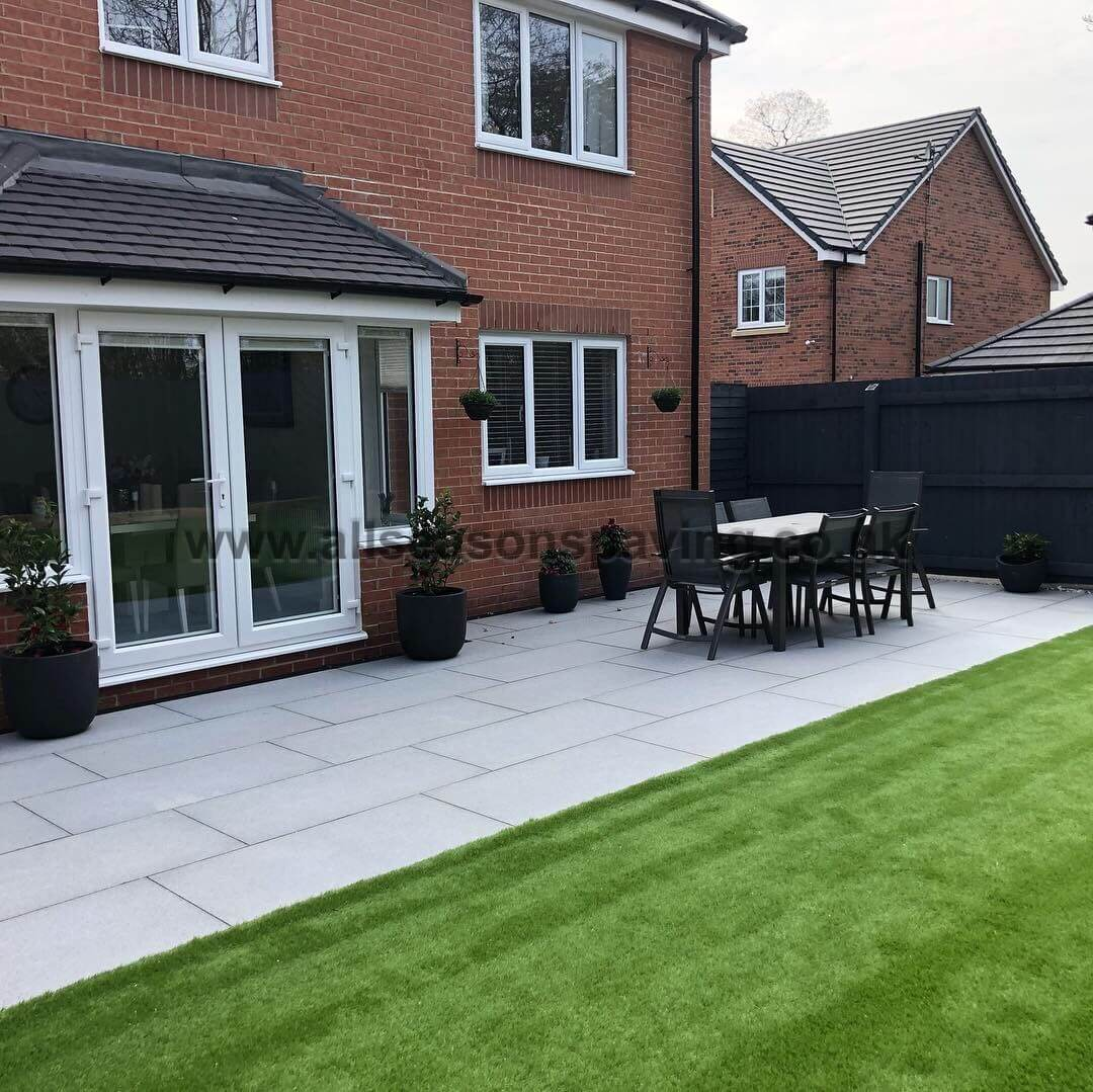 Patio and artificial grass in Cottam Preston