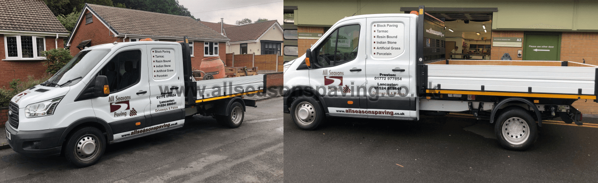 All Seasons paving preston van fleet