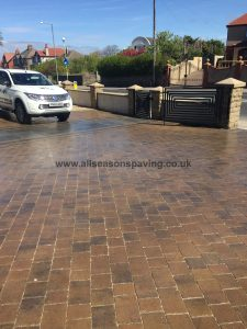 Morecambe driveway 10 years after Block paving