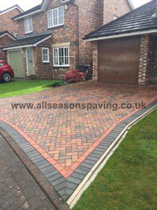 Block paving driveway Longton near Preston, Lancashire