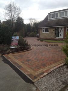 Tobermore Shannon Heather in Farrington Leyland block paving