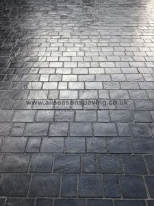 block paving leyland up close