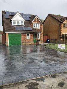 pattern concrete driveway preston