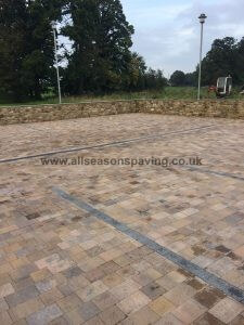 finished installation of Lancaster block paving