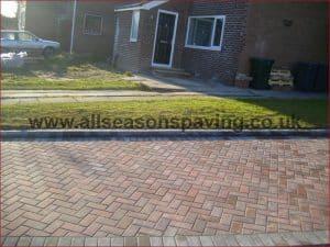 Monoblock paving in Lancaster driveway