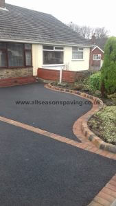 tarmac driveway chorley w/ raised curb border