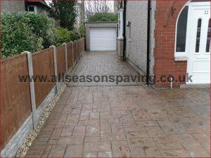 pattern concrete driveway morecambe