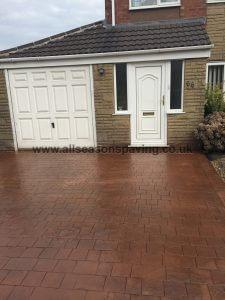 pattern concrete chorley driveway