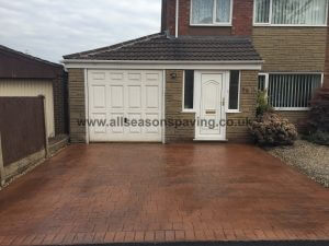 pattern imprinted concrete driveways chorley