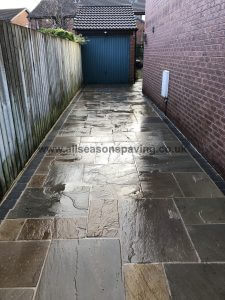 driveway in Morecambe indian stone