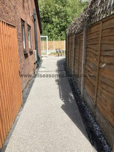 resin bound driveway side - chorley example