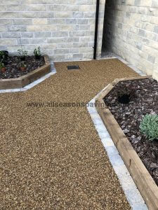 close up resin bound driveway lancaster