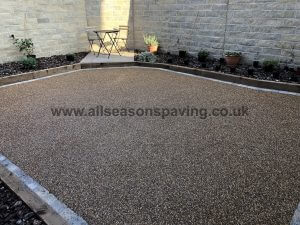 close up, resin bound driveway or patio lancaster