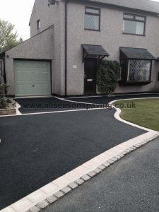tarmac driveway morecambe - stone border
