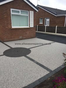 resin bound driveway and front garden Morecambe