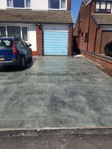 pattern concrete driveway leyland