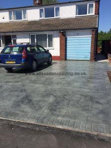 pattern imprinted concrete driveway Leyland